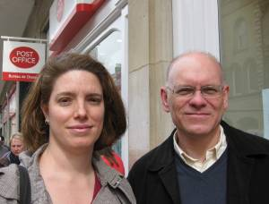 Andrea Reiner and Cllr Tim Bick at the new PO